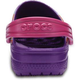 Crocs Classic Graphic - Sandales Enfant - violet/Multicolore